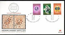 Dutch Antilles - 1973 Stamp centenary Mi. 266-68 clean unaddressed FDC