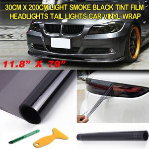 Light Smoke Black Tint Film Headlights Tail lights Car Vinyl Wrap 30cm x 200cm