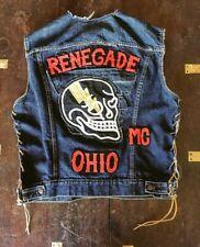 Vintage Motorcycle Club Vest Biker Patches MC Levs