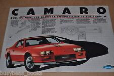 1982 Chevrolet Camaro 2-page advertisement, Chevy CAMARO Z28