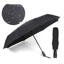 Herren Regenschirm Auf-Zu-Automatik groß stabil sturmsicher - reflect schwarz