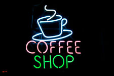 "Neon Light Sign 32""x24"" Cafe Coffee Shop Open Espresso Bar Artwork Decor Lamp"