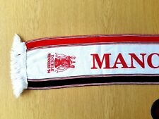 Manchester United Football Scarf. 1994 Double Year. White Man Utd Football.