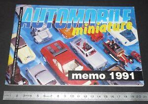 MEMO 1991 AUTOMOBILE MINIATURE MARQUES CLUBS ADRESSES PUBS