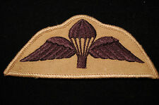 British Army Parachute Wings- Subdued Patch -  No37A