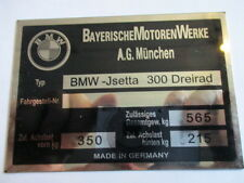 Nameplate BMW Id-plate Shield Isetta 300 Tricycle s24 3-Rad