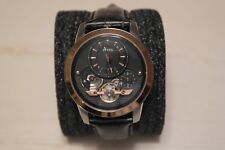 Fossil Grant Twist Brown Leather Mens Automatic Watch ME1114