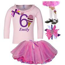 Bubblegum Divas 6th Birthday Outfit Strawberry Ice Cream Long Sleeve Shirt 6
