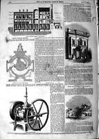 Original Old Antique Print 1847 George'S Brewery Whitechapel Museum Ipswich 19th