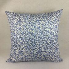 Funda de cojín de color principal azul de 100% algodón para el hogar