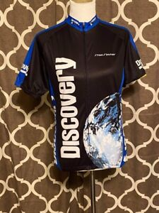 Discovery Channel Cycling Jersey Shirt Full Zip Adult Size Large