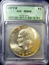 TMM* 1977-D clad Certified Coin Eisenhower Dollar ICG MS65