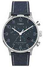Timex | Waterbury Classic Chrono 40Mm | Blauw Leer TW2T71300 Horloge -15%!