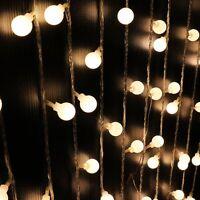 3.5m 40LED Globe Bulb Ball Xmas String Curtain Lamp Fairy Light Warm White Decor