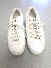 Converse white leather, low athletic shoes. Men's 12 (eur 46.5)