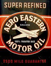 "TIN SIGN ""Aero Eastern"" Gas-Oil Games Signs  Rustic Wall Decor"