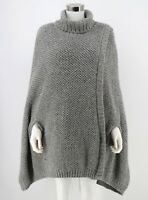 Soft Surroundings Hudson Poncho Pullover Missy One Size Chunky Sweater Womens