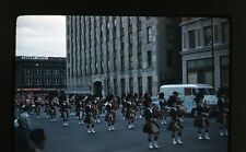 1950s Kodachrome Photo slide  Band Marching Parade Bagpipe Players