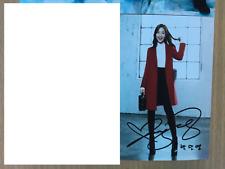 Park Min Young KPOP Korean Actress 4x6 Photo Autograph hand signed USA Seller A1