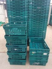 More details for 10 x plastic bale arm tray / crate box 60-40-20cm storage / removals