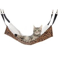 Pet Cat Dog Hammock Leopard Wool Hanging Cage Comforter Ferret Sleeping Bed