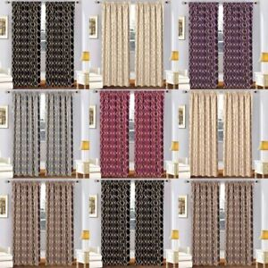 Pair of Thermal Thick Blackout Pencil Pleat Curtains Panel Ready Made &Tie Backs