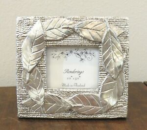 2.5 x 3.5 Leaves Leaf Design Picture Photo Frame Silver Tabletop