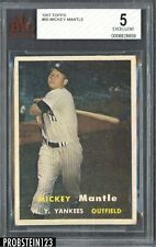 1957 Topps #95 Mickey Mantle New York Yankees HOF BVG 5 EX
