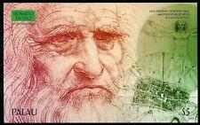Palau 2018 MNH Leonardo Da Vinci Inventions 1v IMPF S/S Art Famous People Stamps