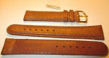 Uhrenarmband 18 mm hellbraun Schweinsleder 2 Stege Uhrenband, Uhrenbänder, Uhren