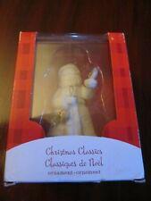 "Heirloom Christmas Classics white and gold Santa ornament.. NIB 4"" tall."
