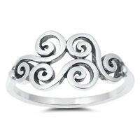 NEW! Sterling Silver 925 FILIGREE DESIGN RING 10MM SIZES 4-10