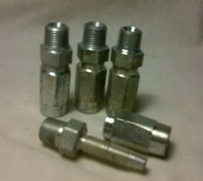 "Lot of 4 Reusable Hydraulic Hose Fittings Male 1/8"" NPT x -3 (3/16"") Hose NOS"