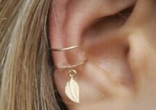 Festival Party Luxury Boutique New Uk Gold Leaf Ring Fashion Ear Cuff Boho