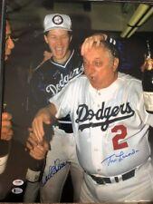 Tommy Lasorda &Orel Hershiser Signed Dodgers 16x20 Photo *1988 WS Champs Beckett