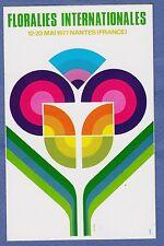 72d** Autocollant FLORALIES NANTAISES 1977