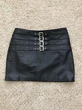 Mango Leather Mini Skirt XS-S