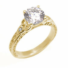 Trinity Knot 1.5ct Diamond 4 Claw Engagement Ring 9ct Gold UK Hallmarked (SS287)