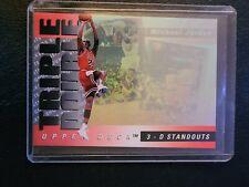 1993 94 Upper Deck Triple Double 3D Hologram Michael Jordan Chicago Bulls HOF