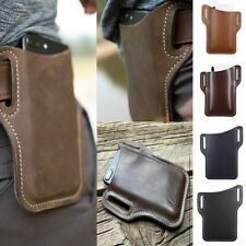 Mens Leather ​​Cell Phone Belt Loop Bag Waist Holster Pouch Protection Case​