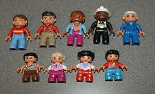 LEGO DUPLO Figures Lot Mom-Dad-Kids-Caveman