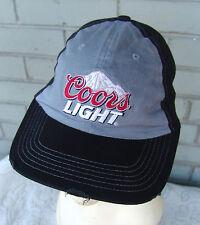Coors Light Beer Distressed Baseball Cap Hat