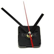 Silent Retro Quartz Clock Movement Black+Red Hands Mechanism DIY Repair Part Kit