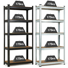 GARAGE SHELVES SHELVING 5 TIER UNIT RACKING BOLTLESS HEAVY DUTY STORAGE SHELF