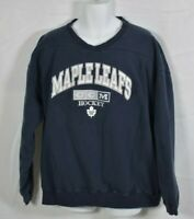 Mens Navy Blue CCM Toronto Maple Leafs Pullover Sweater Shirt Casual Sz XL