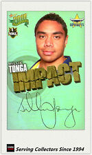 2010 Select NRL Champions Impact Foil Signature IS36 Willie Tonga (Cowboys)