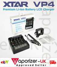 Authentic & Genuine XTAR VP4 LCD Battery Charger, Genuine & Authentic, Freepost