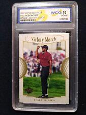 Tiger Woods 2001 Upper Deck Golf Card #151 Rookie Victory March WCG 10 GEM-MT