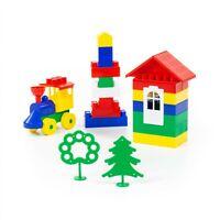 Polesie 2952 Construction Builder Set-44 Pieces, Multi Colour