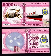 ★★ ILE JUAN DE NOVA ● TAAF ● BILLET POLYMER 5000 FRANCS ★ COLONIE FRANCAISE
